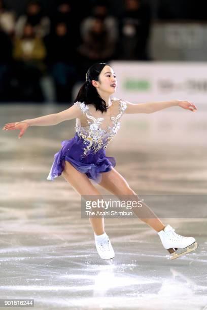 Marin Honda performs during the Nagoya Figure Skating Festival at Nippon Gaishi Arena on January 6 2018 in Nagoya Aichi Japan