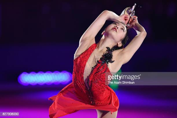 Marin Honda performs during the Prince Ice World 2017 in Nikko at Nikko Kirifuri Ice Arena on August 5 2017 in Nikko Tochigi Japan