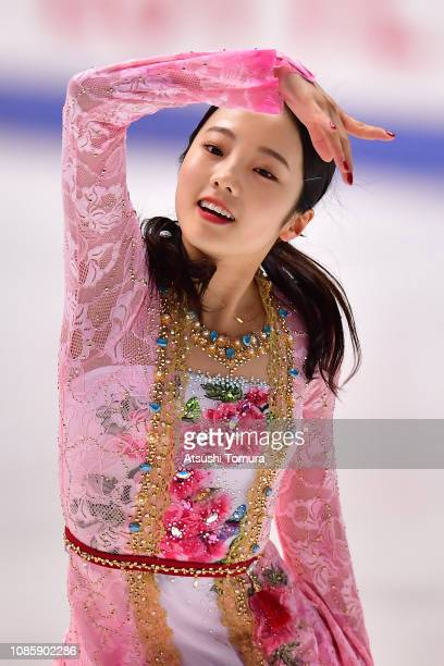 Marin Honda performs her routine in the ladies free skating during day three of the 87th Japan Figure Skating Championships at Towa Yakuhin RACTAB...