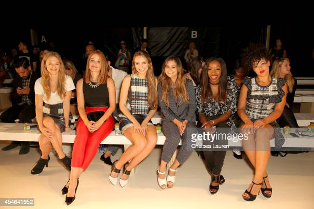 Marin Ireland Erica Piccininni Olivia Somerlyn Jacquie Lee Estelle and Elle Varner attend the Marissa Webb fashion show during MercedesBenz Fashion...
