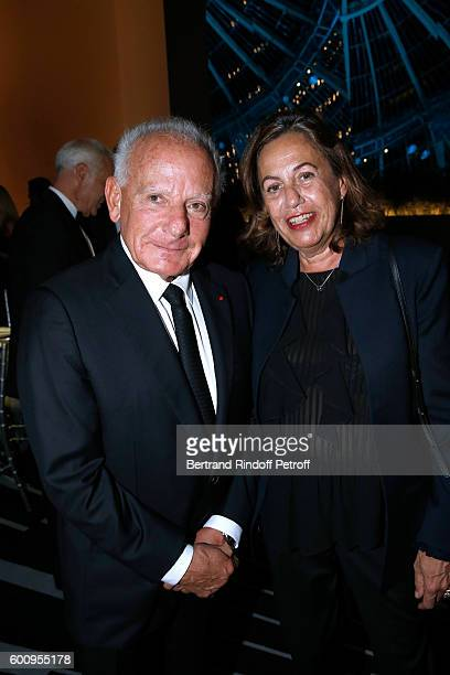 Marin Karmitz and Anne Barrere attend the 28th Biennale des Antiquaires PreOpening at Grand Palais on September 8 2016 in Paris France