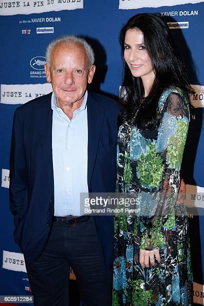 Marin Karmitz and Marie Drucker attend the 'Juste la fin du Monde' Paris Premiere at Mk2 Bibliotheque on September 15 2016 in Paris France