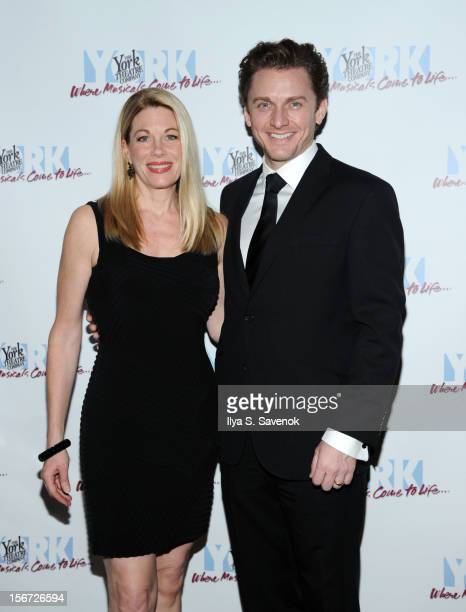 Marin Mazzie and Jason Danieley attend the 21st Annual Oscar Hammerstein Award Gala at The Edison Ballroom on November 19 2012 in New York City