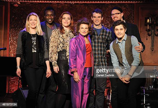 Marin Mazzie Joshua Henry Alysha Umphress Tovah Feldshuh Ryan Scott Oliver Jay Armstrong and Andy Mientus attend the 54 Below Press Preview at 54...