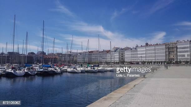 Marina. A Coruña cityscape
