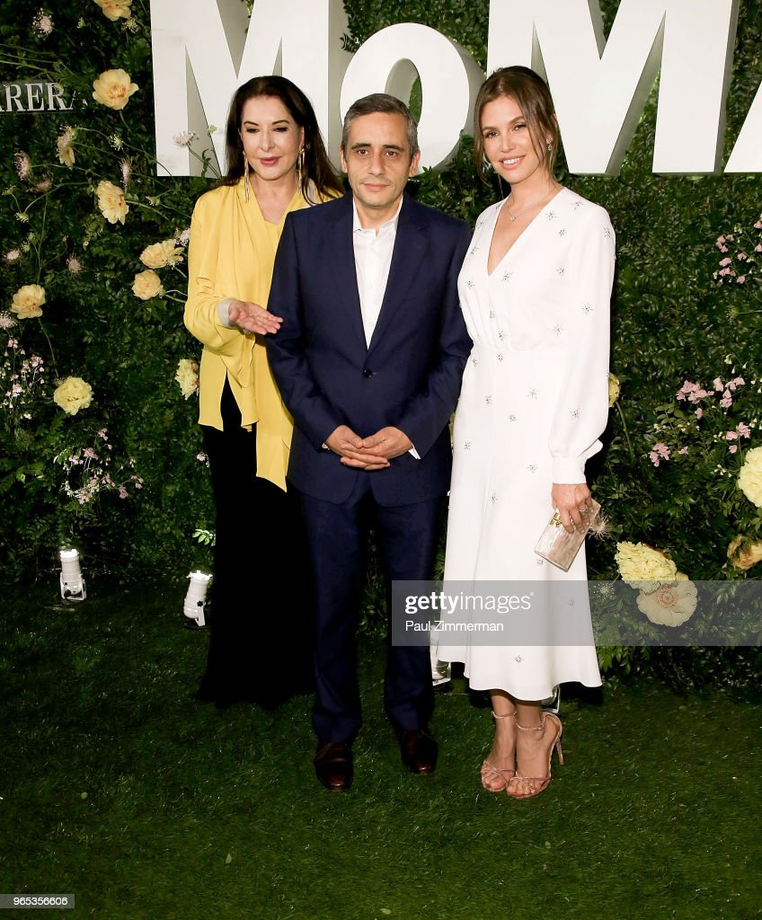 Marina Abramovic, Alex Poots and Dasha Zhukova attend the 2018 MoMA Party In The Garden at Museum of Modern Art on May 31, 2018 in New York City.