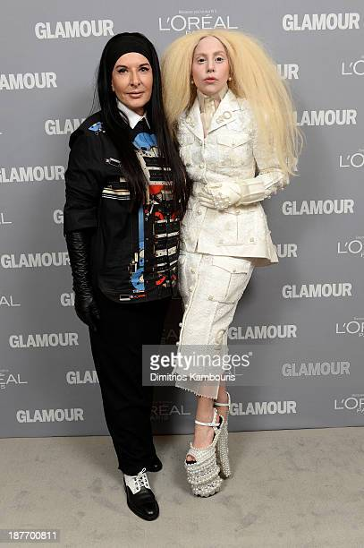 Marina Abramovic and Lady Gaga attend Glamour's 23rd annual Women of the Year awards on November 11, 2013 in New York City.