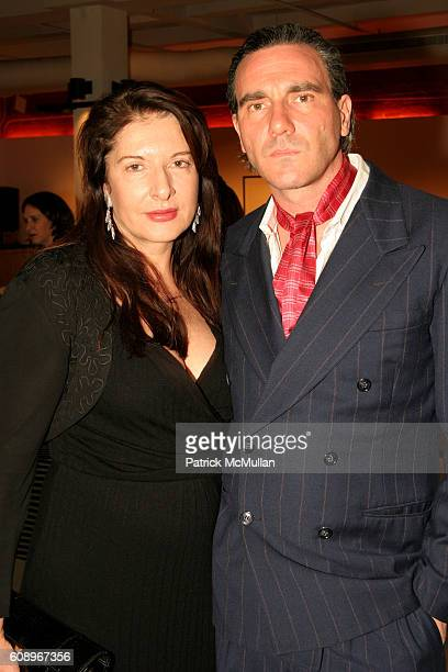 Marina Abramovic and Paolo Canevari attend 4th Annual Benefit for The Drawing Center at The XCHANGE on November 7, 2007 in New York City.