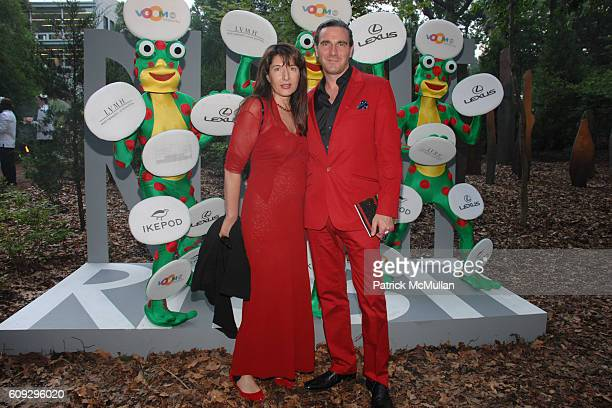 Marina Abramovic and Paolo Canevari attend VOOM Zoo The14th Annual WATERMILL CENTER Summer Benefit at The Watermill Center on July 28, 2007 in...