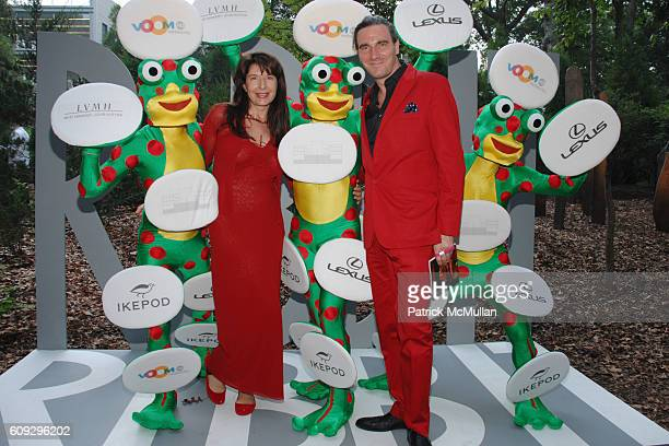 Marina Abramovic and Paolo Canevari attend VOOM Zoo The14th Annual WATERMILL CENTER Summer Benefit at The Watermill Center on July 28 2007 in...