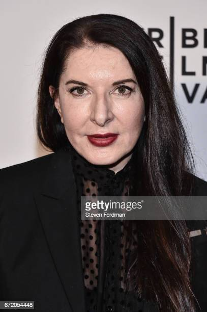 Marina Abramovic attends 'Blurred Lines Inside the Art World' Premiere at Cinepolis Chelsea on April 23 2017 in New York City