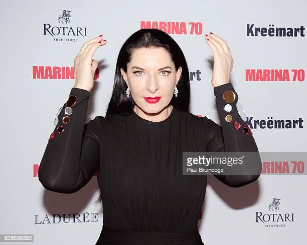 Marina Abramovic attends MARINA 70 at Solomon R. Guggenheim Museum on December 8, 2016 in New York City.