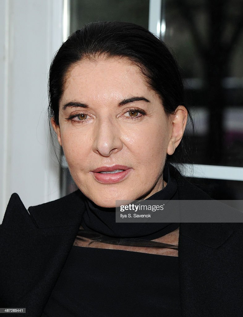 Marina Abramovic attends the 'Belle' premiere at The Paris Theatre on April 28, 2014 in New York City.