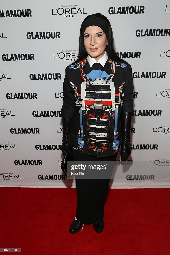 Marina Abramovic attends the Glamour Magazine 23rd annual Women Of The Year gala on November 11, 2013 in New York, United States.