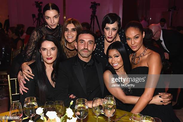 Marina Abramovic, Mariacarla Boscono, Carine Roitfeld, Riccardo Tisci, Ladyfag, Nicki Minaj, and Joan Smalls attend 2016 Fashion Group International...