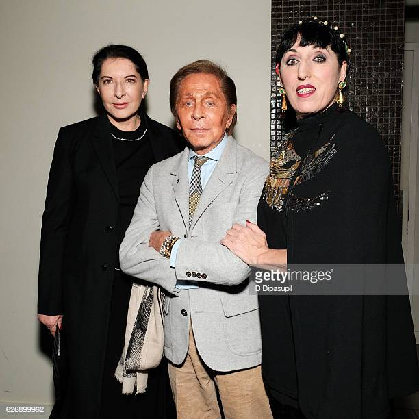 Marina Abramovic Valentino and Rossy de Palma attend a screening of Sony Pictures Classics' 'Julieta' hosted by The Cinema Society with Avion and GQ...