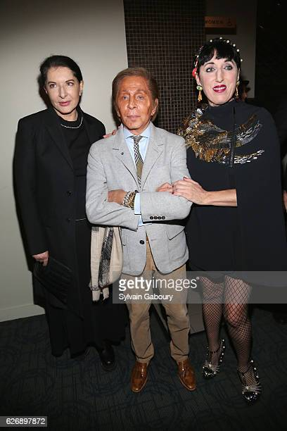 Marina Abramovic Valentino and Rossy de Palma attend The Cinema Society with Avion and GQ Host a Screening of Sony Pictures Classics' 'Julieta' at...