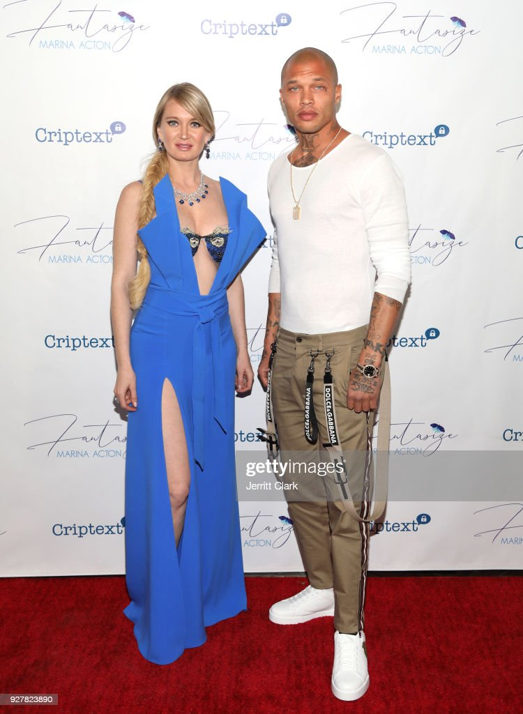 Marina Acton and Jeremy Meeks The Release Of Her New Single 'Fantasize' at Boulevard3 on March 5, 2018 in Hollywood, California.