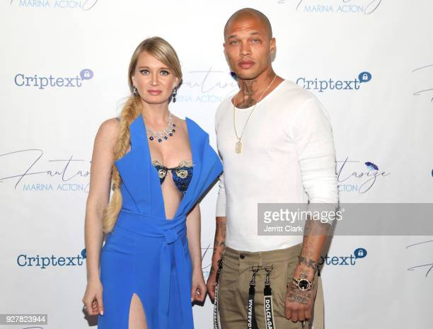 Marina Acton and Jeremy Meeks The Release Of Her New Single Fantasize at Boulevard3 on March 5 2018 in Hollywood California