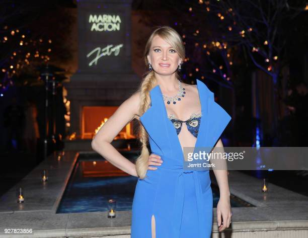 Marina Acton attends The Release Of Her New Single Fantasize at Boulevard3 on March 5 2018 in Hollywood California
