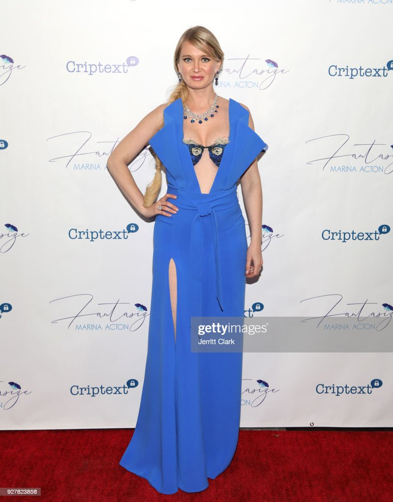 Marina Acton attends The Release Of Her New Single 'Fantasize' at Boulevard3 on March 5, 2018 in Hollywood, California.