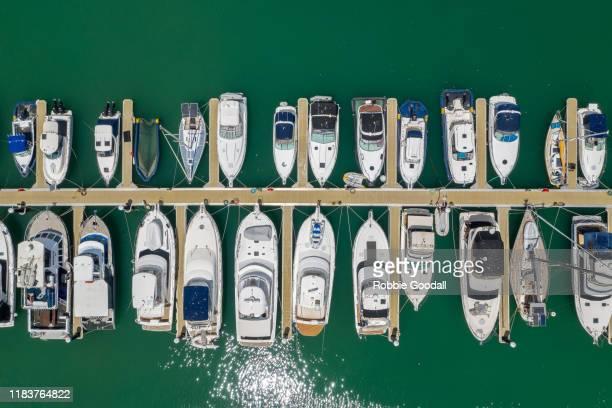 marina aerial shot - フリーマントル ストックフォトと画像