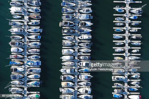 marina aerial shot - long beach california stock photos and pictures