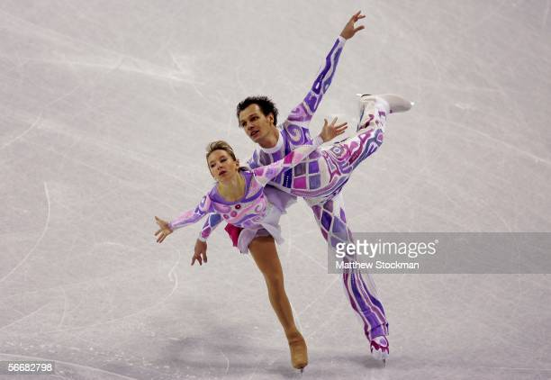 Marina Aganina and Artem Knyazev of Uzbekistan compete in the pairs free skate of the ISU Four Continents Figure Skating Championships on January 26...