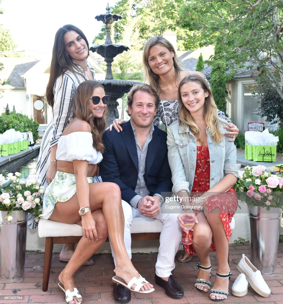 Marina Albright, Francesca Pasini, Todd Meadow, Lizzi Bickford, and Jessica Sodokoff attend the Modern Luxury + Sam Edelman Summer Fashion Event on July 12, 2018 in Southampton, New York.