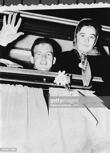 Marina and Lee Harvey Oswald Leaving Minsk
