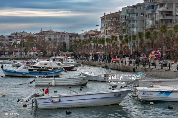 Marina and Promenade of Silivri District, Istanbul,Turkey