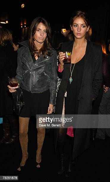 Marina and Rose Hanbury attend the launch party of the new LG Shine mobile phone at Club Cirque on February 7 2007 in London England