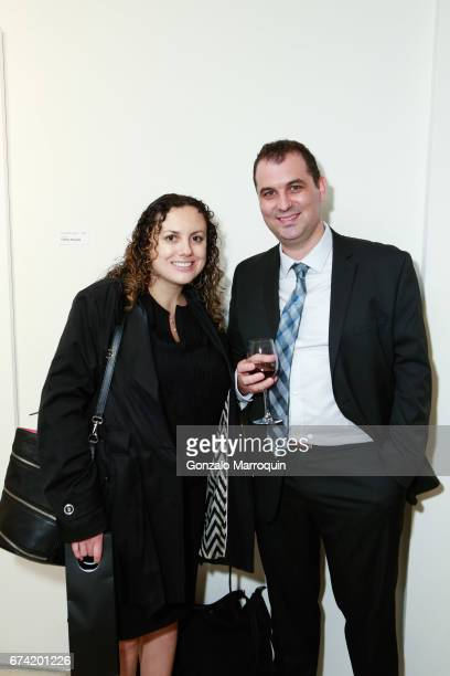 Marina and Ross Genower attend the Swiss Wine Valais Loves New York hosted by Gregory de la Haba Billy The Artist Anthony HadenGuest and Raul Zamudio...
