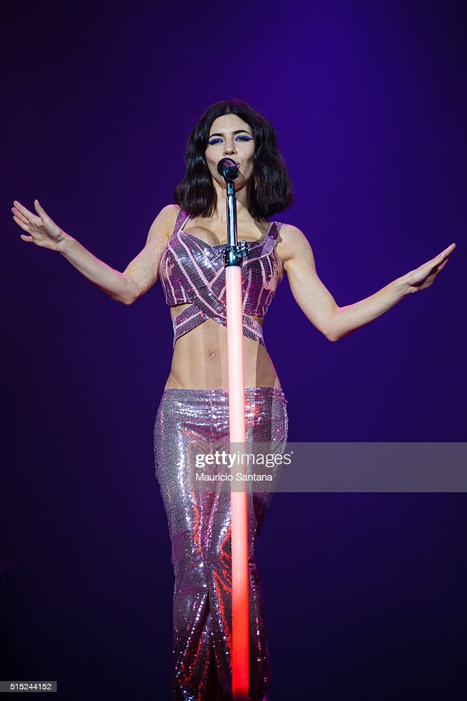 Marina and The Diamonds performs live on stage at Autodromo de Interlagos on March 12, 2016 in Sao Paulo, Brazil.