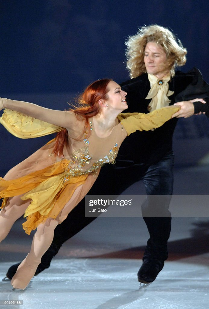 Marina Anissina and Gwendal Peizerat during Dreams on Ice 2006 exhibition show.