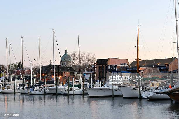 marina at annapolis - annapolis stock pictures, royalty-free photos & images