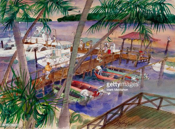 Marina at Captiva Island by Franklin McMahon