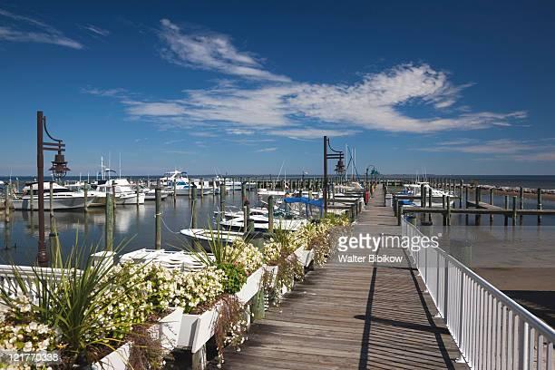 marina at chesapeake beach, western shore of chesapeake bay, maryland, usa - chesapeake bay stock pictures, royalty-free photos & images