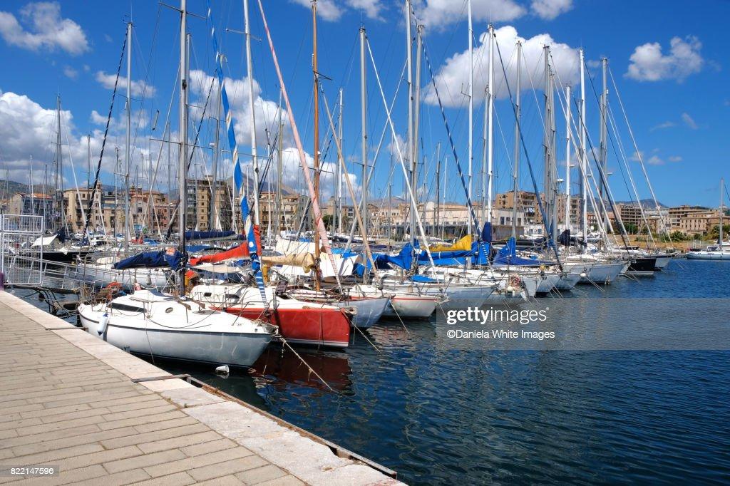 Marina at Palermo, Sicily, Italy : Stock Photo