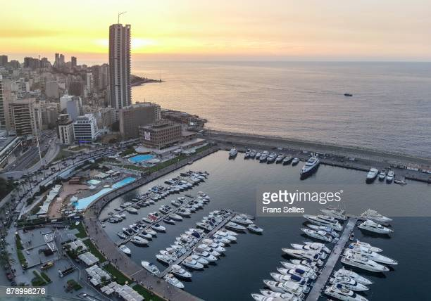 marina at zaitunay bay, beirut, lebanon - beirut stock pictures, royalty-free photos & images