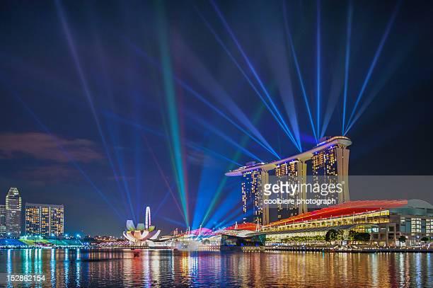 marina bay light show - 映写 ストックフォトと画像