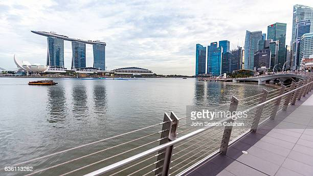 marina bay - marina bay sands stock photos and pictures
