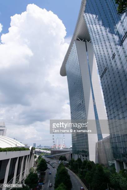 Marina Bay Sands and Bayfront Avenue in Singapore