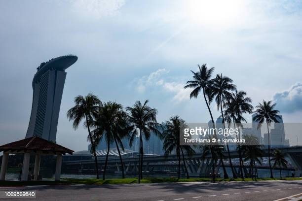 Marina Bay Sands and office and finance buildings in Singapore