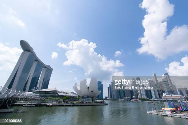 Marina Bay Sands, ArtScience Museum and office buildings in Singapore
