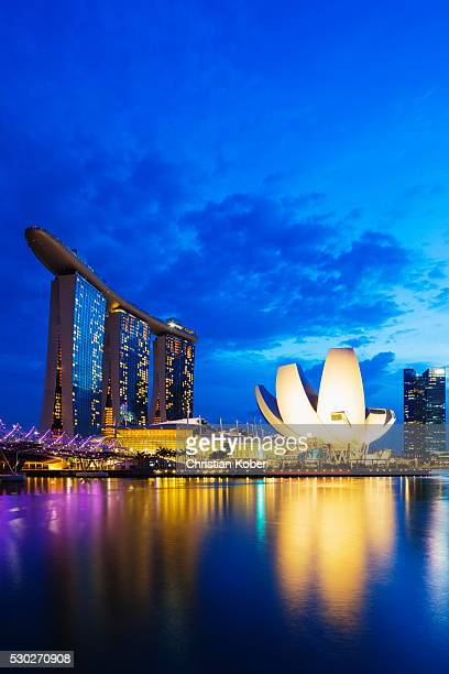 Marina Bay Sands Hotel and Arts Science Museum, Singapore, Southeast Asia, Asia