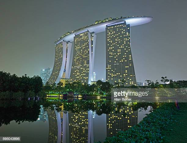 Marina Bay Sands hotel in Singapore at night