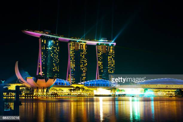 marina bay sands hotel - marina bay sands stock photos and pictures