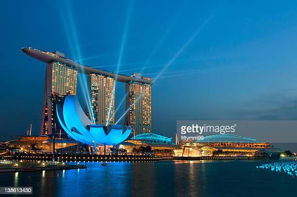 Marina bay sands in Singapore countdown 2012