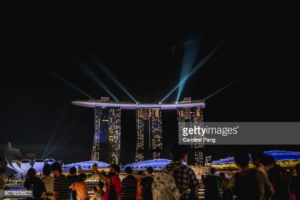 Marina Bay Sands' laser light show.